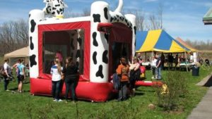 Bounce House and Tents at the Wildlife Festival
