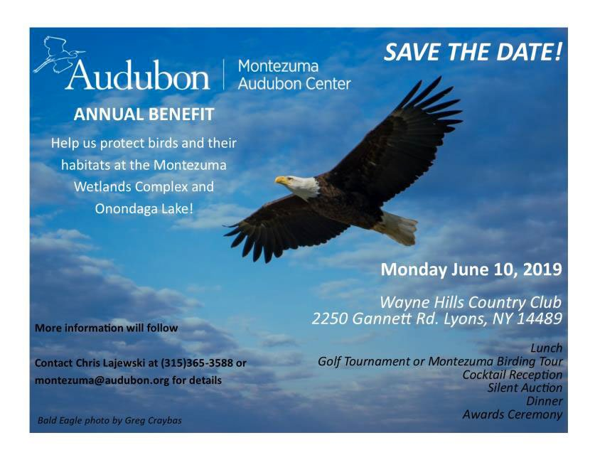 Save The Date June 10 for Audubon Benefit